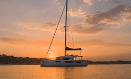 Sunsail Lagoon 505 Catamaran at Sunset